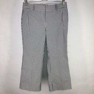 J. Crew 6 Petite Teddie Cropped Striped Pants 6P